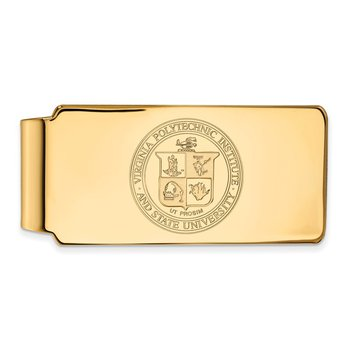 Gold-Plated Sterling Silver Virginia Tech NCAA Money Clip