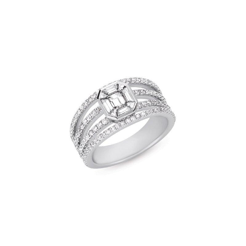 S. Kashi  & Sons White Gold Ring