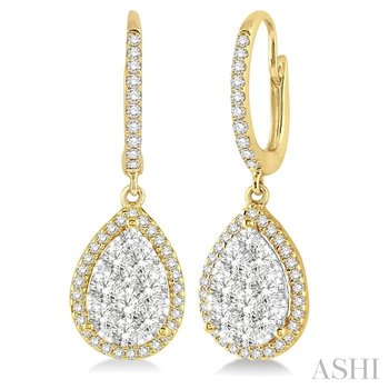 pear shape lovebright essential diamond earrings