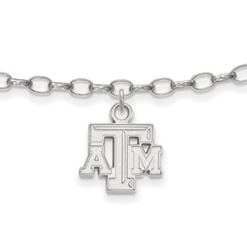 Sterling Silver Texas A&M University NCAA Bracelet