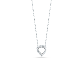 18Kt Gold Diamond Medium Open Heart Pendant