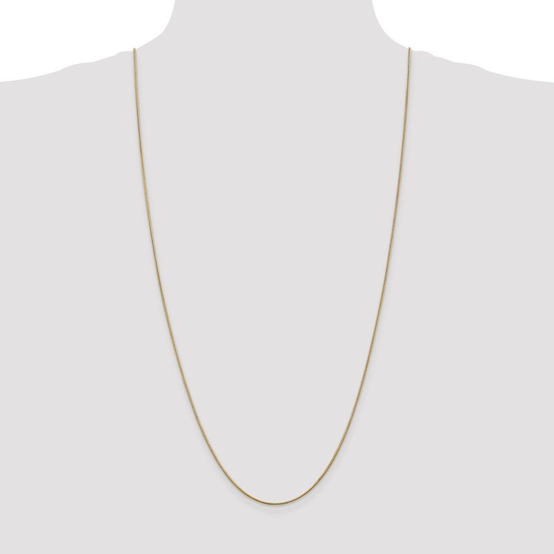 Quality Gold 14k 1.1mm Round Snake Chain