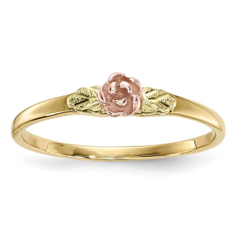 Quality Gold 10k Tri-Color Black Hills Gold Rose Ring