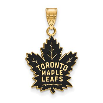 Gold-Plated Sterling Silver Toronto Maple Leafs NHL Pendant
