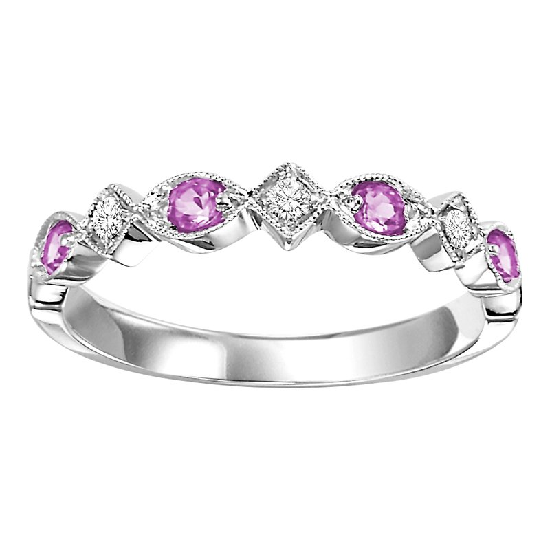 Mixables 10K Pink Sapphire & Diamond Mixable Ring