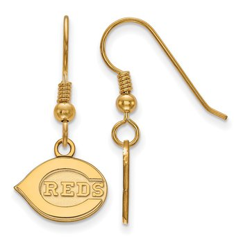 Gold-Plated Sterling Silver Cincinnati Reds MLB Earrings
