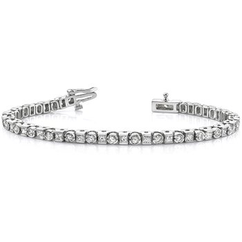 White Gold Tennis Bracelet