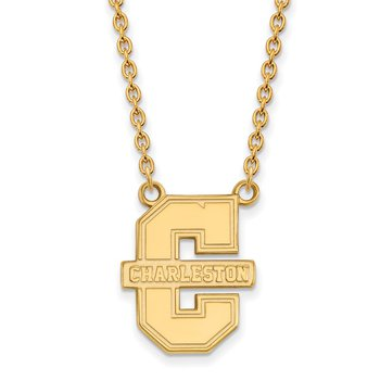 Gold College of Charleston NCAA Necklace