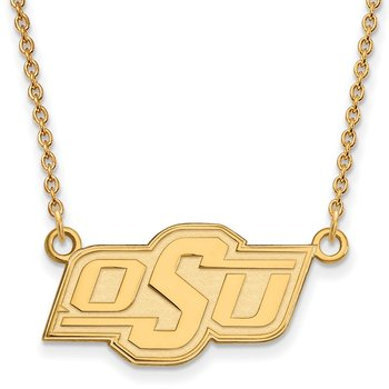 Gold Oklahoma State University NCAA Necklace