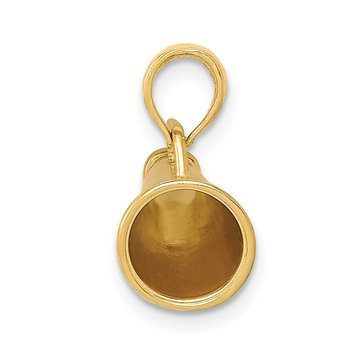 14k Polished 3-D Small Megaphone Pendant