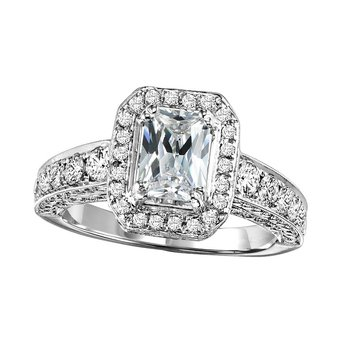 14K Diamond Engagement Ring 1 1/4 ctw