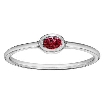 Garnet Ladies Ring