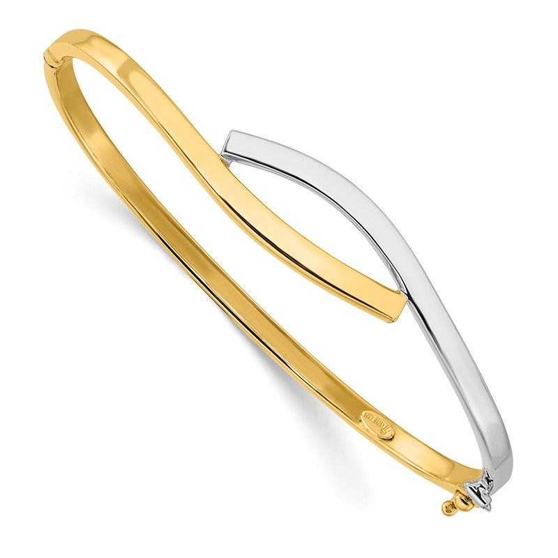 Leslie's Leslie's 14K Two-tone 3.00mm Fancy Hinged Bangle