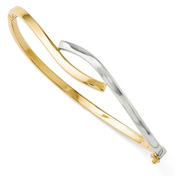 Leslie's 14K Two-tone 3.00mm Fancy Hinged Bangle
