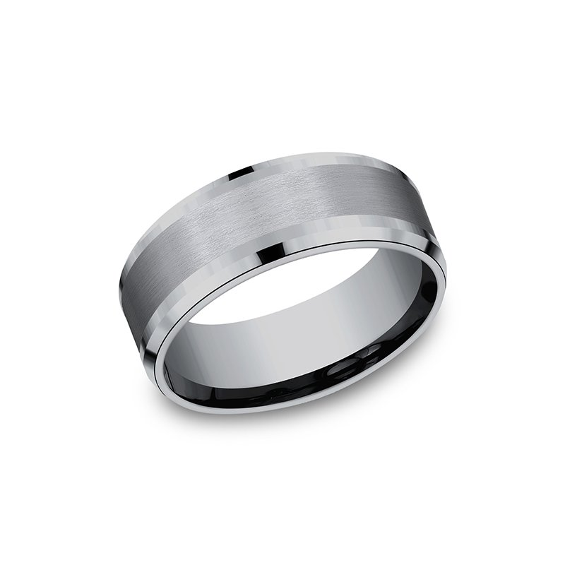 Tantalum Grey Tantalum Comfort-fit wedding band