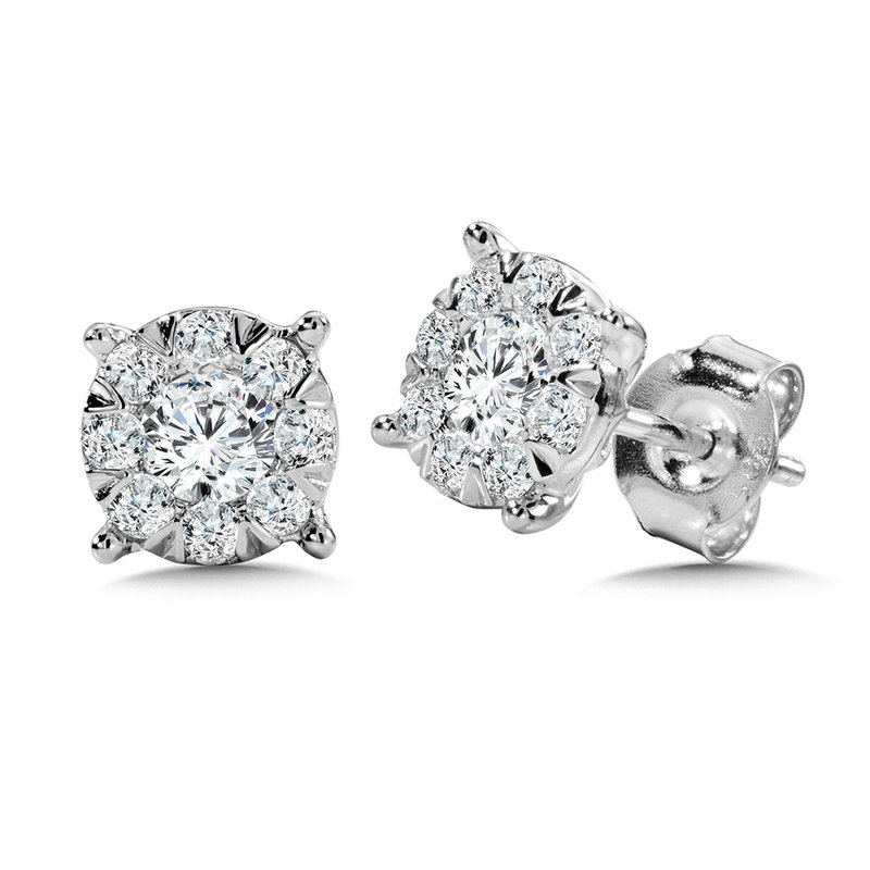 SDC Creations Mirage Cluster Diamond Stud Earrings