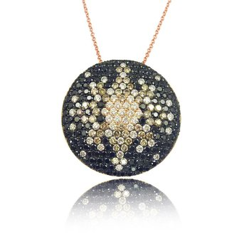 Contemporary Couture by MAZZARESE Mocha Mosaic Pendant