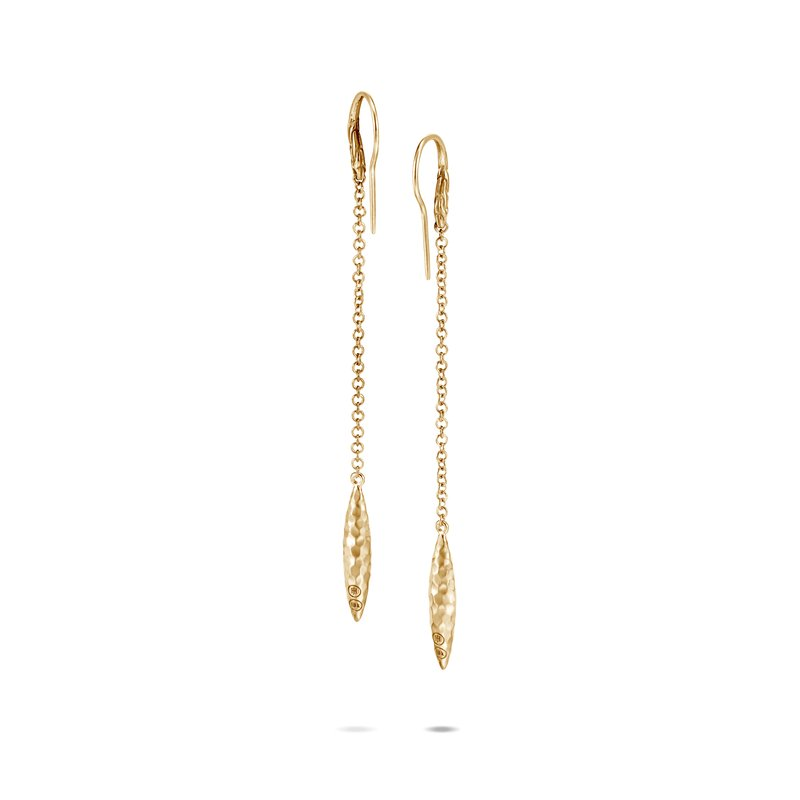 JOHN HARDY Classic Chain Spear Linear Drop Earring in 18K Gold