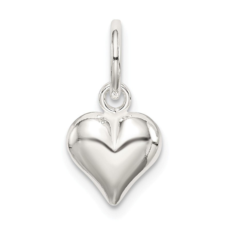 J.F. Kruse Signature Collection Sterling Silver Puff Heart Charm