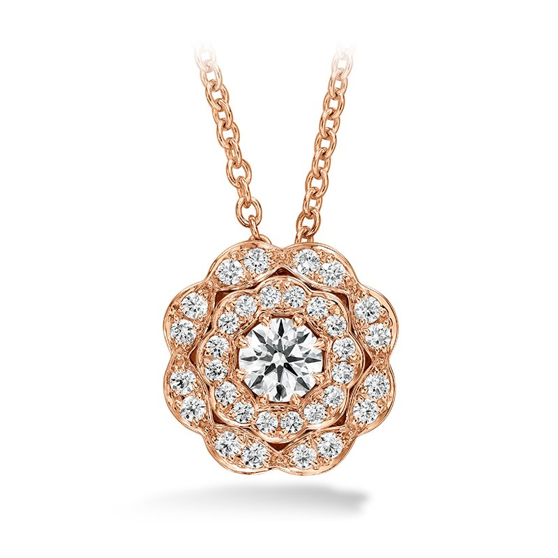 Hearts on Fire 0.35 ctw. Lorelei Double Halo Diamond Pendant