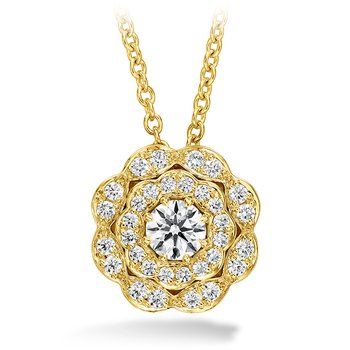 0.35 ctw. Lorelei Double Halo Diamond Pendant