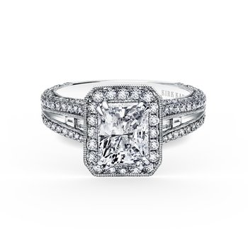 Extraordinary Radiant Halo Engagement Ring
