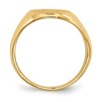 14k 16.0x11.5mm Closed Back Men's Signet Ring