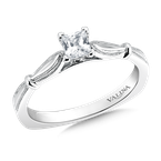 Valina Solitaire mounting .01 tw., 1/3 ct. Princess cut center.