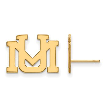Gold University of Montana NCAA Earrings