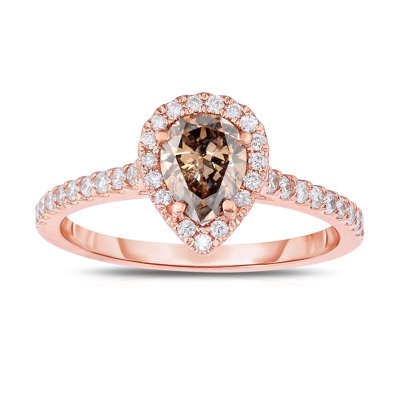 C&R Diamonds Natural Fancy Color Diamond Engagement Ring