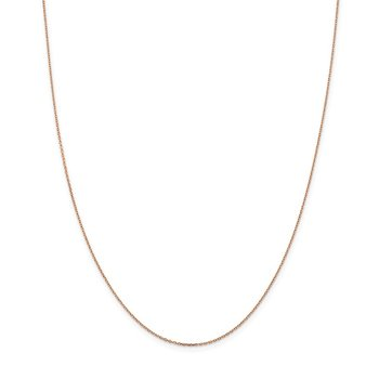 14k Rose Gold 1.0mm D/C Cable Chain