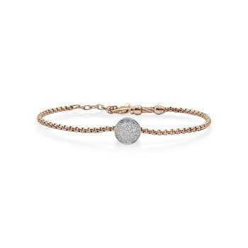Carnation Chain Expressions Scattered Bracelet with 14kt White Gold & Diamonds