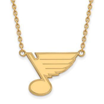 Gold-Plated Sterling Silver St. Louis Blues NHL Necklace