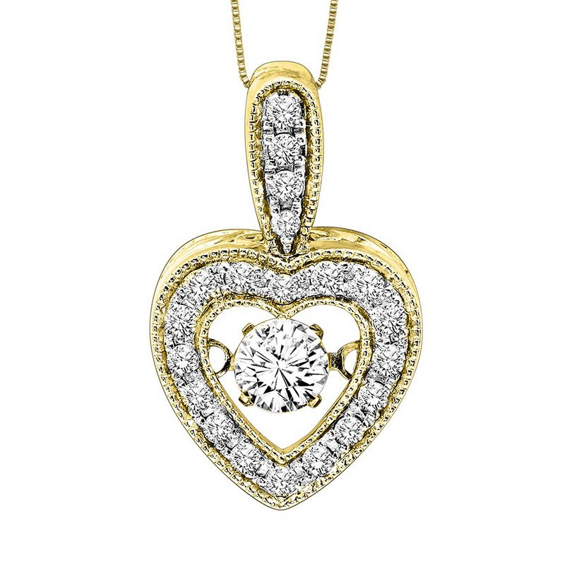 Necker's Signature Collection 14K Diamond Rhythm Of Love Pendant 1/3 ctw