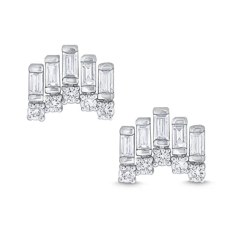 KC Designs Diamond Metropolis Stud Earrings Set in 14 Kt. Gold