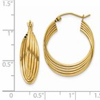 Quality Gold 14k Lightweight Fancy Hoop Earrings