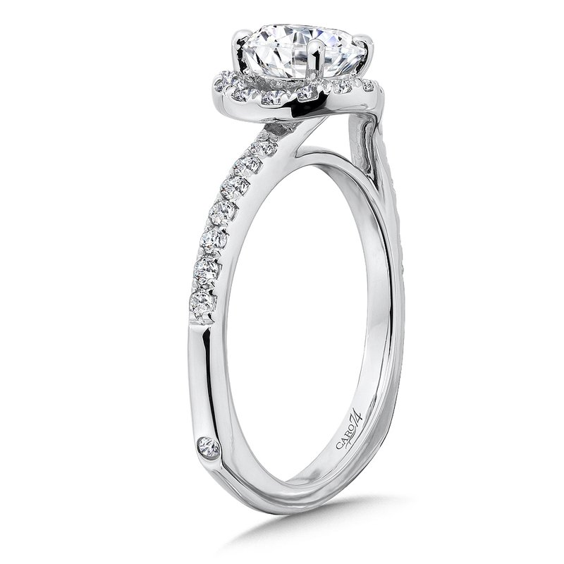 Caro74 Criss Cross Engagement Ring in 14K White Gold (1ct. tw.)