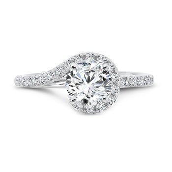 Criss Cross Engagement Ring in 14K White Gold (1ct. tw.)