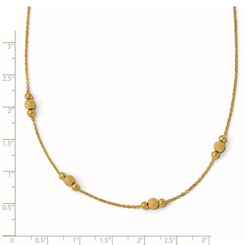 Leslie's Leslie's 14k Polished and Laser Textured w/2inext. Necklace
