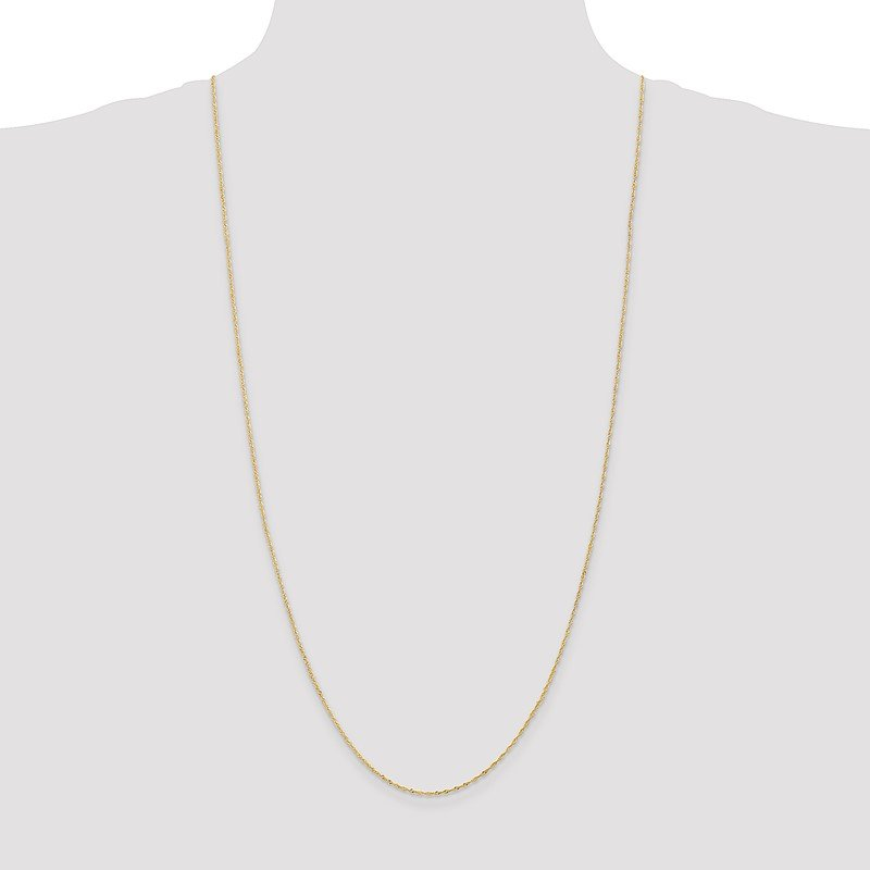 Quality Gold 14k 1.10mm Singapore Chain