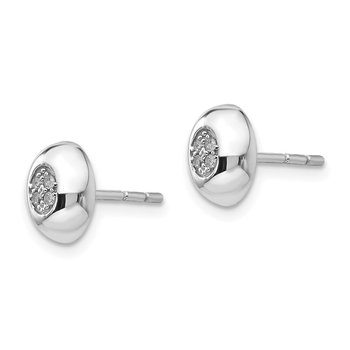 SS White Ice .04ct Diamond Earrings