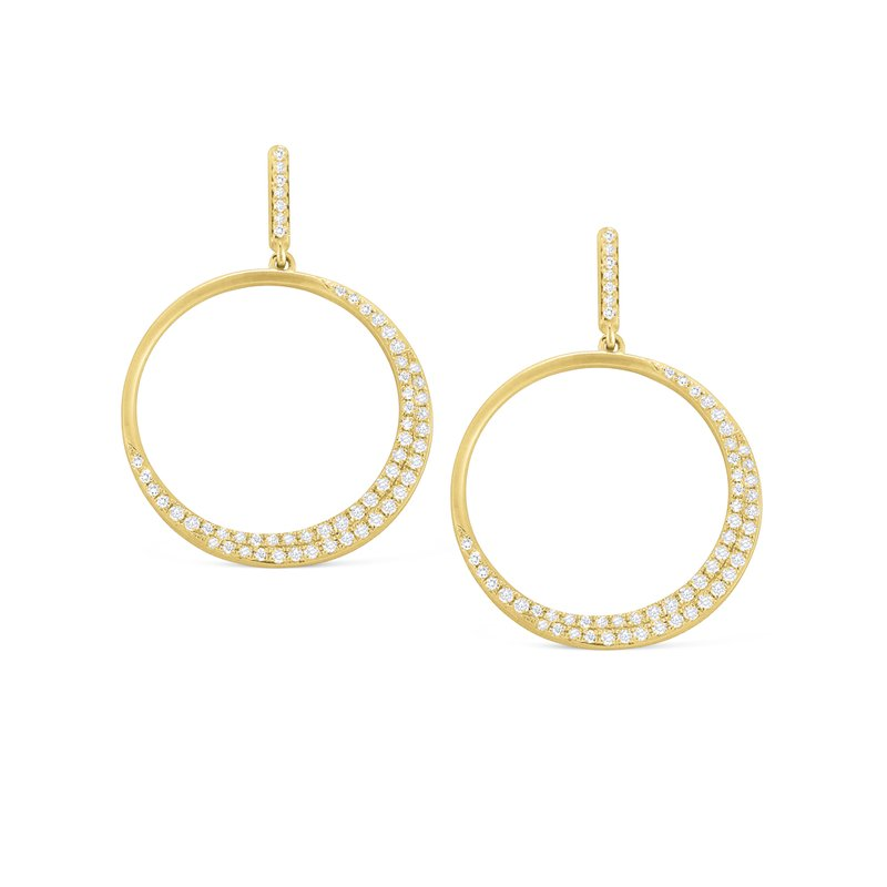 KC Designs 14K Gold and Diamond Circle Earrings