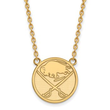 Gold-Plated Sterling Silver Buffalo Sabres NHL Necklace