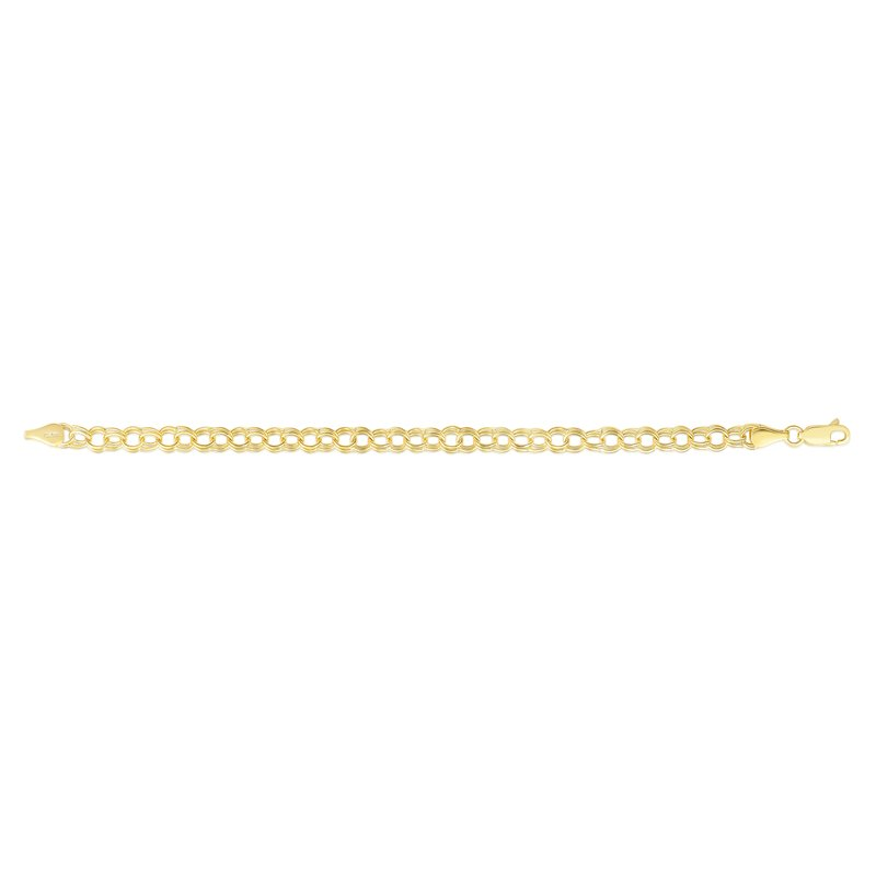 Royal Chain 14K Gold Small Double Link Charm Bracelet