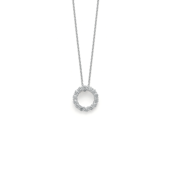 18KT GOLD CIRCLE DIAMOND PENDANT