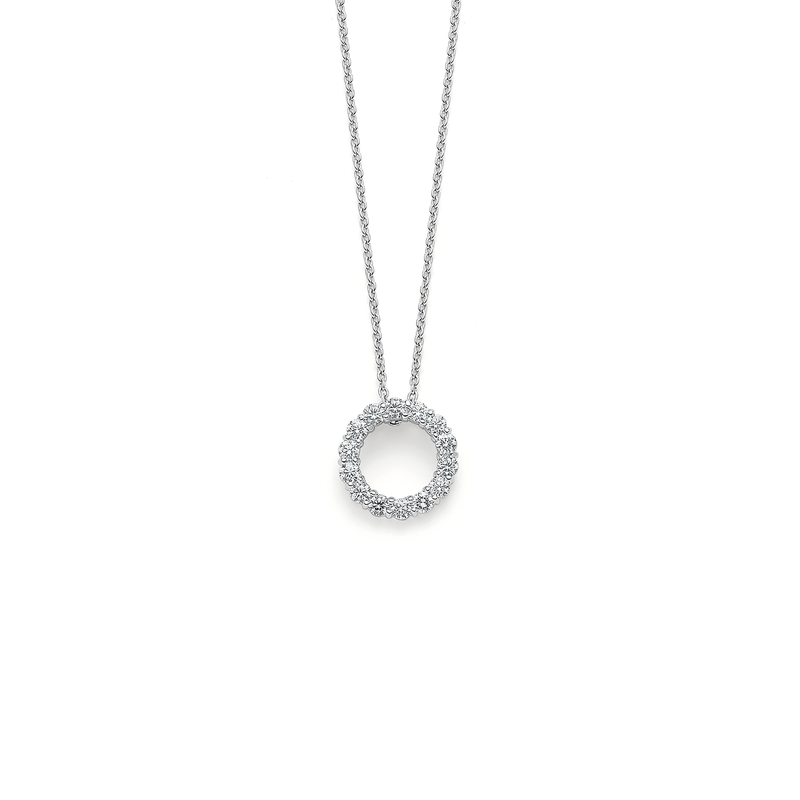 Roberto Coin 18Kt Gold Circle Diamond Pendant