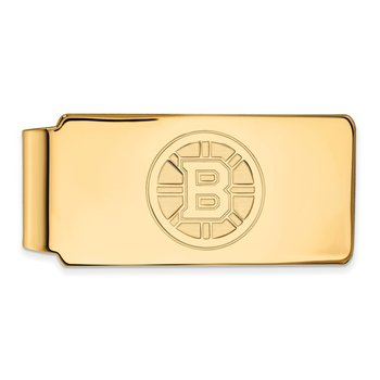 Gold-Plated Sterling Silver Boston Bruins NHL Money Clip