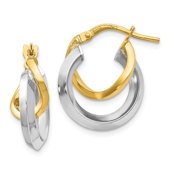 Leslie's 14k Two Toned Hoop Earrings