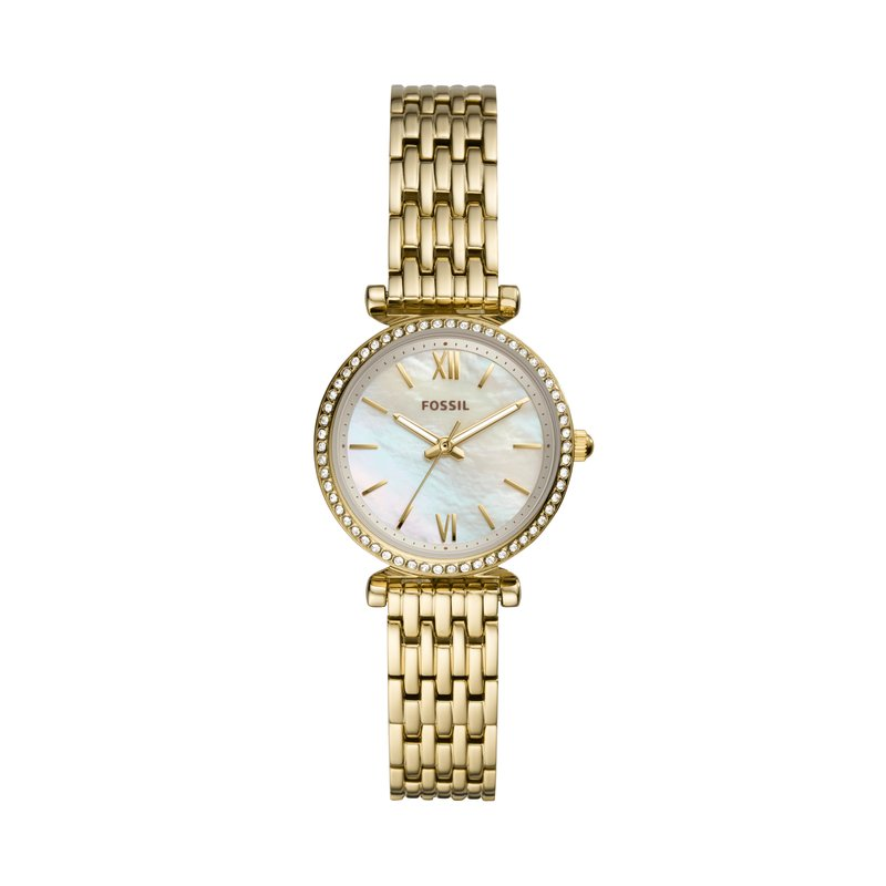 Fossil Mother of Pearl Gold Tone Watch