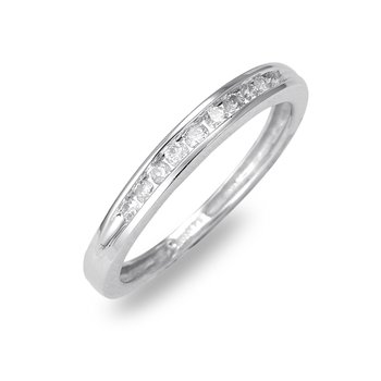 14K WG Diamond Wedding Band. Avl in Sizes 4-7